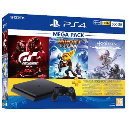 PS4 500GB Mega Paket (Horizon ZD CE + GT Sport + Ratchet & Clank + 3 Aylık PS Plus)