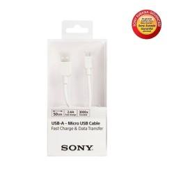 Sony - Sony CP-AB50W 2.4A 50cm Micro Usb Hızlı Sarj Data Kablo
