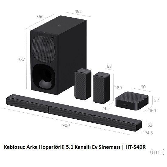 Sony HT-S40R Kablosuz arka hoparlör 5.1 Ses Sistemi