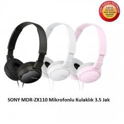 Sony - Sony MDR-ZX110AP Mikrofonlu Kulaklık
