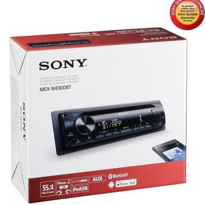 Sony MEX-N4300BT Bluetooth, USB Oto Teyb